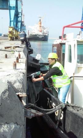 הזרקות סדקים -נמל אשדוד